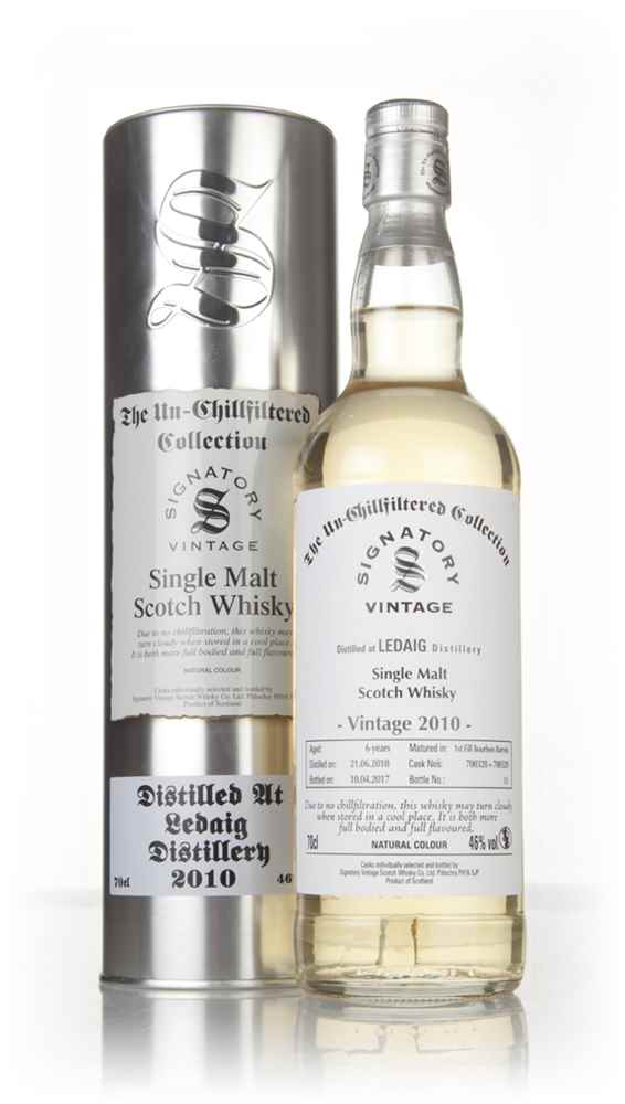 Ledaig 6 Year Old 2010 (casks 700328 & 700329) - Un-Chillfiltered Collection (Signatory)