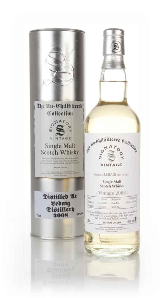 Ledaig 7 Year Old 2008 (casks 700748 & 700756) - Un-Chillfiltered (Signatory)