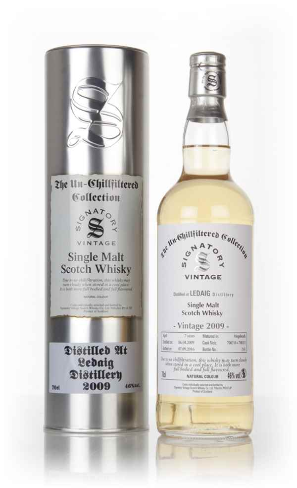 Ledaig 7 Year Old 2009 (casks 700310 & 700311) - Un-Chillfiltered Collection (Signatory)