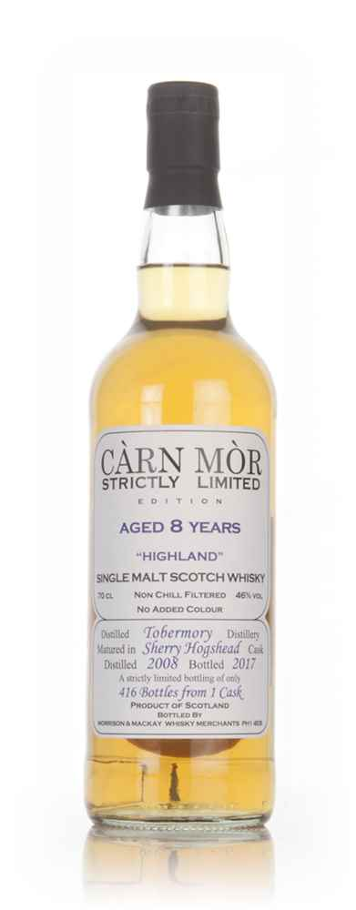 Tobermory 8 Year Old 2008 (bottled 2017) - Strictly Limited (Càrn Mòr)