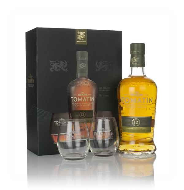Tomatin 12 Year Old Gift Pack with 2x Glasses