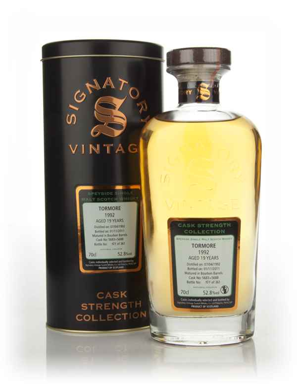 Tormore 19 Year Old 1992 (cask 5683+5688) - Cask Strength Collection (Signatory)