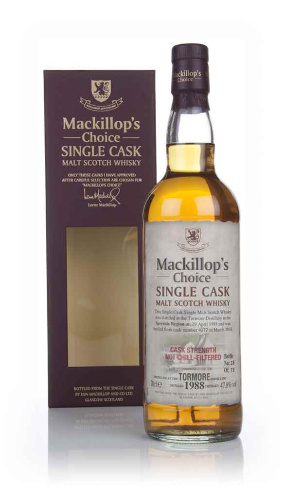 Tormore 27 Year Old 1988 (cask 4177) - Mackillop's Choice