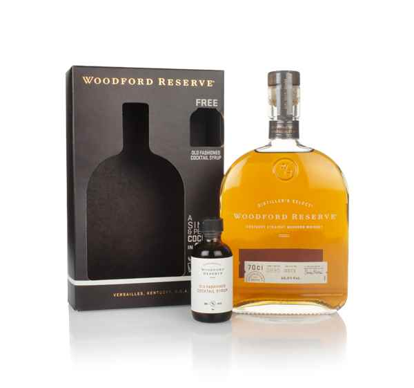 Woodford Reserve Kentucky Bourbon Gift Pack with Old Fashioned Cocktail Syrup