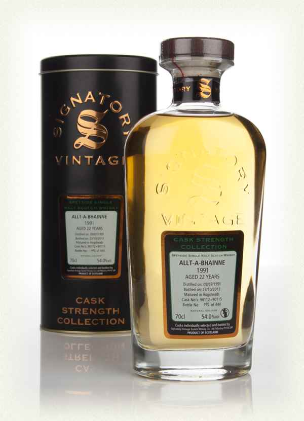 Allt-á-Bhainne 22 Year Old 1991 (casks 90112+90115) - Cask Strength Collection (Signatory)