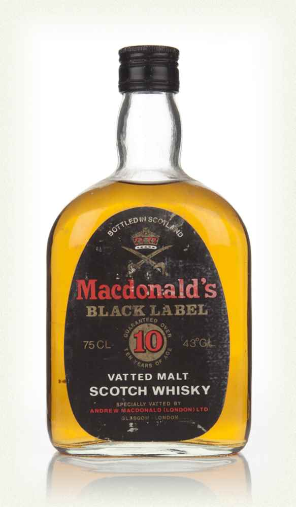 Macdonald's Black Label 10 Year Old - 1970s