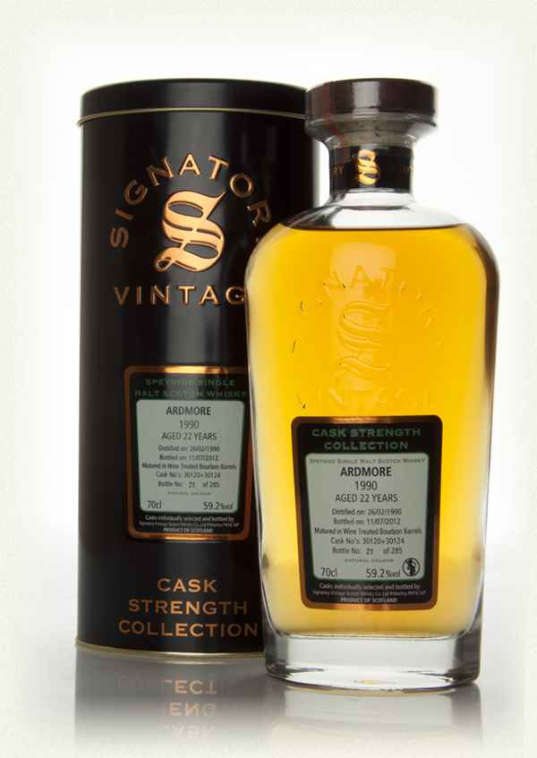 Ardmore 22 Year Old 1990 - Cask Strength Collection (Signatory)