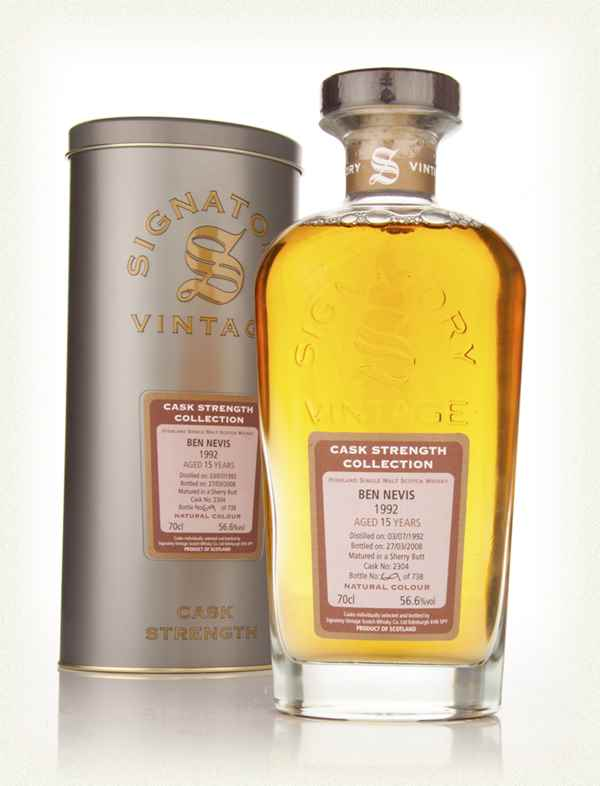 Ben Nevis 15 Year Old 1992 Cask 2304 - Cask Strength Collection (Signatory)