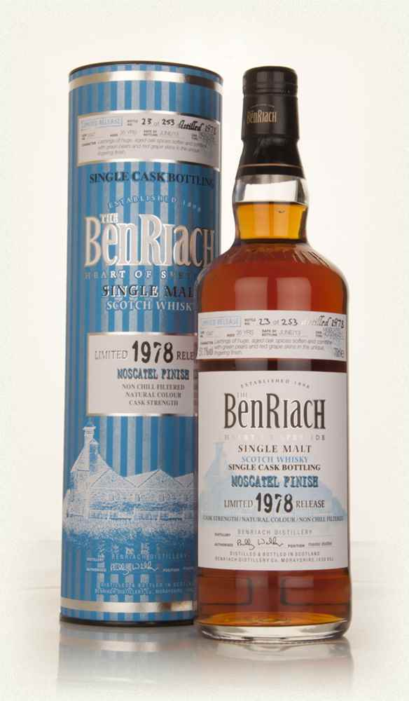 BenRiach 35 Year Old 1978 (cask 1047) - Moscatel Cask Finish