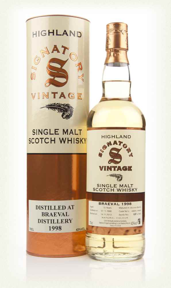 Braeval 15 Year Old 1998 (casks 168899+168900) (Signatory)