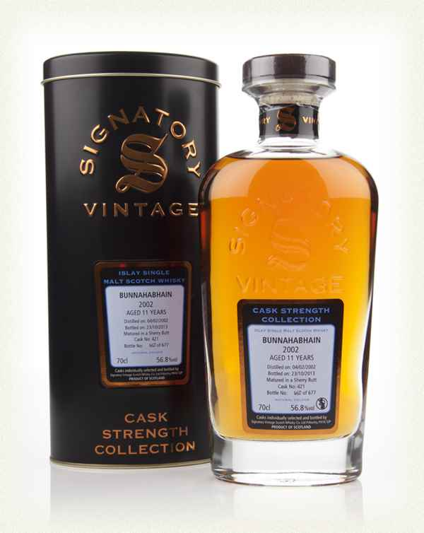 Bunnahabhain 11 Year Old 2002 (cask 421) - Cask Strength Collection (Signatory)