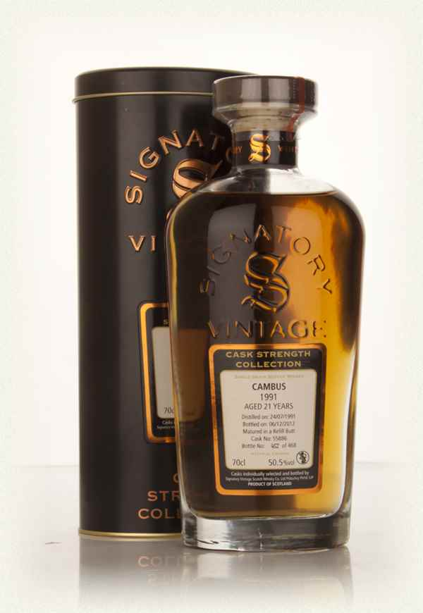 Cambus 21 Year Old 1991 (cask 55886) - Cask Strength Collection (Signatory)