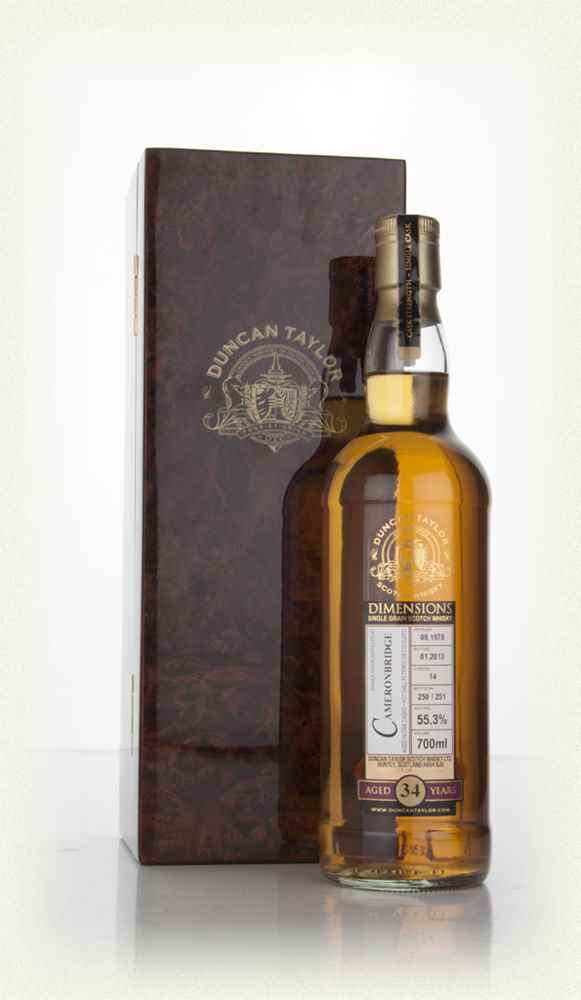 Cameronbridge 34 Year Old 1978 (cask 14) - Dimensions (Duncan Taylor)