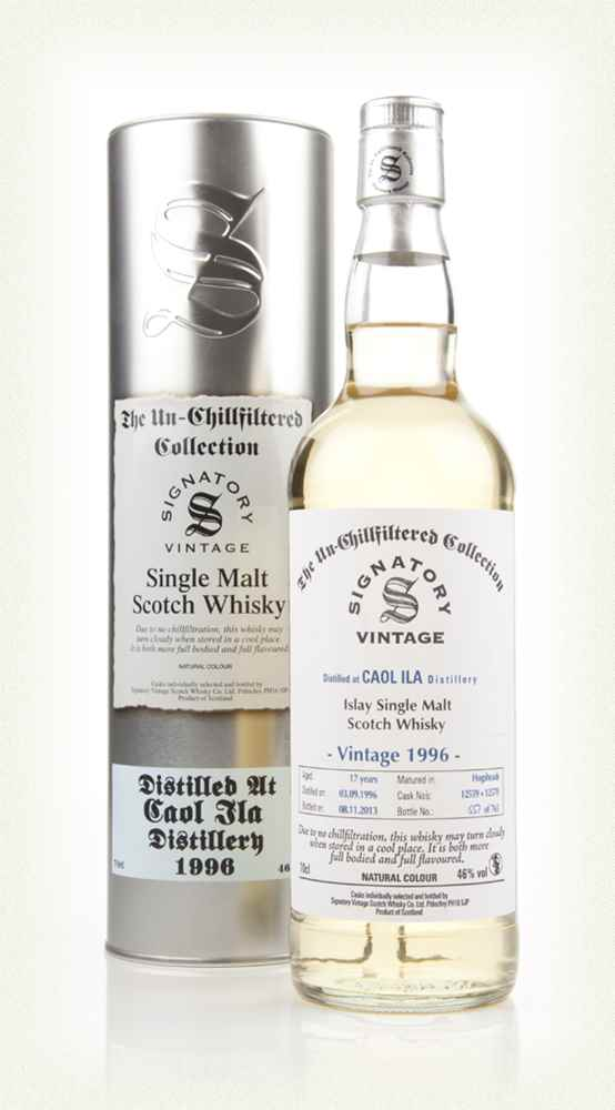 Caol Ila 17 Year Old 1996 (casks 12569+12571) - Unchillfiltered (Signatory)