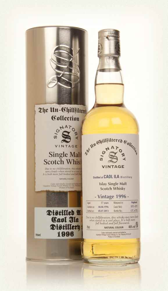 Caol Ila 17 Year Old 1996 (casks 5572+5573) - Un-Chillfiltered Collection (Signatory)
