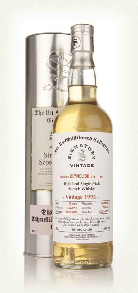 Clynelish 16 Year Old 1992 - Un-Chillfiltered (Signatory)