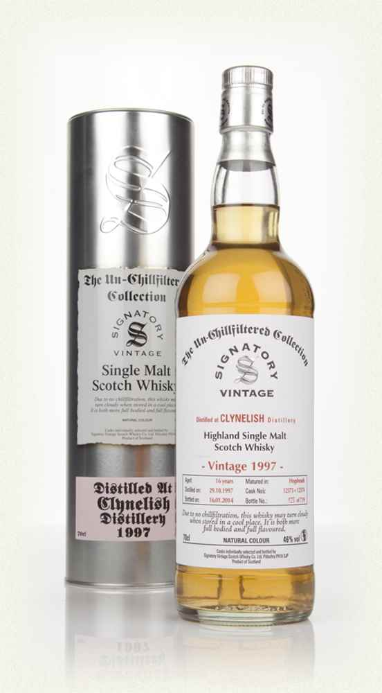 Clynelish 16 Year Old  1997 (cask 12373+12374) - Un-Chillfiltered (Signatory)