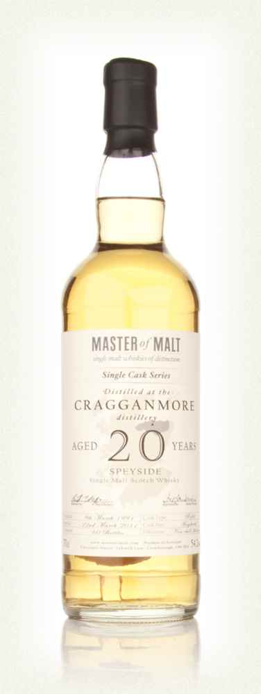 Cragganmore 20 Year Old 1991 Cask 1157 - Single Cask (Master of Malt)