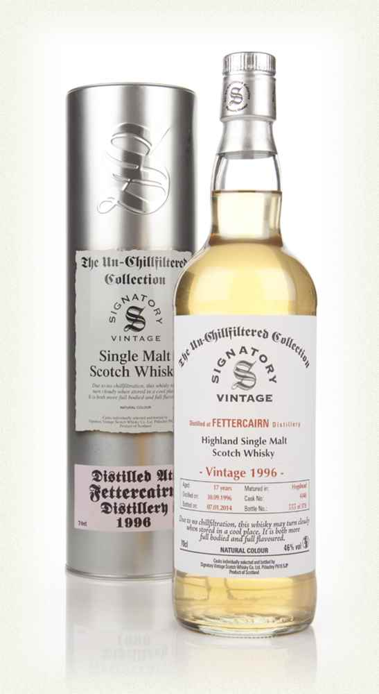 Fettercairn 17 Year Old 1996 (cask 4348) - Un-Chillfiltered (Signatory)