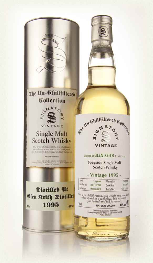 Glen Keith 15 Year Old 1995 - Un-Chillfiltered (Signatory)