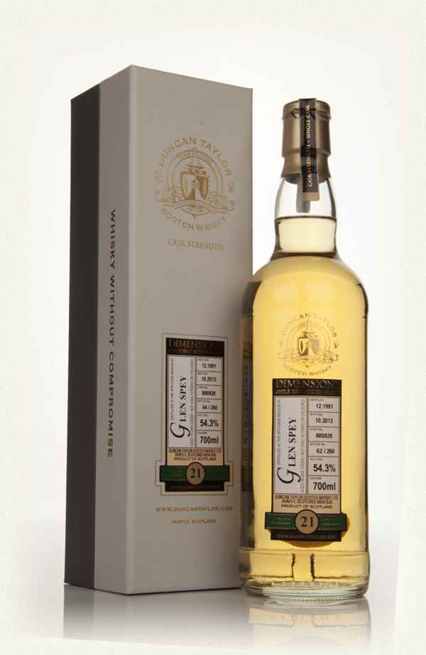 Glen Spey 21 Year Old 1991 (Cask 800828) - Dimensions (Duncan Taylor)