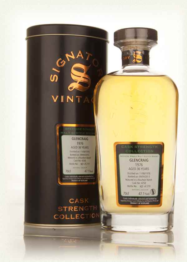 Glencraig 36 Year Old 1976 (cask 4258) - Cask Strength Collection (Signatory)