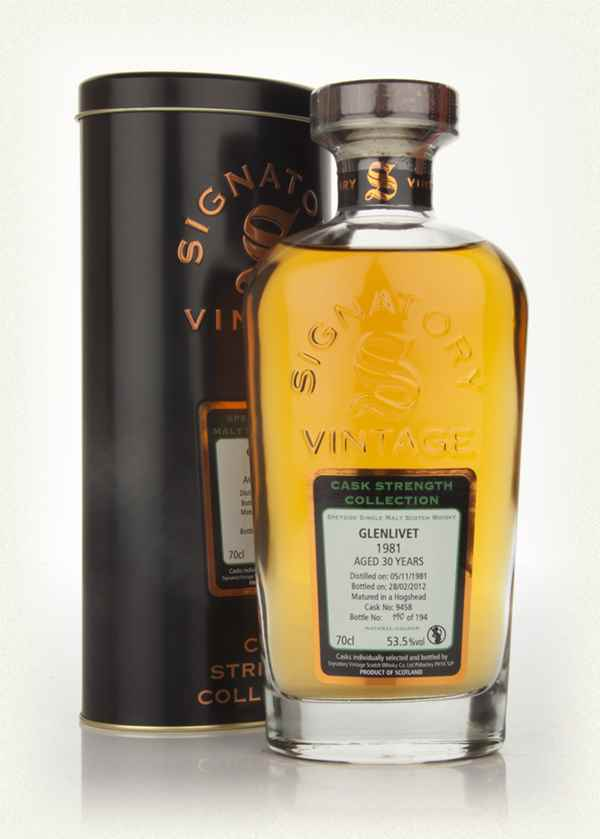 Glenlivet 30 Year Old 1981 (Cask 9640) - Cask Strength Collection (Signatory)