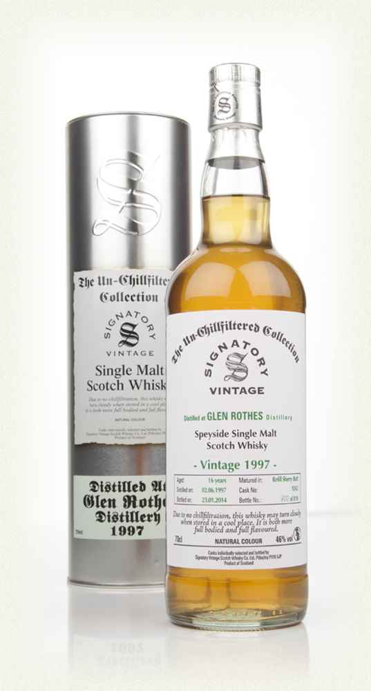 Glenrothes 16 Year Old 1997 (cask 9242) - Un-Chillfiltered (Signatory)