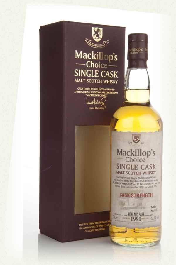 Highland Park 20 Year Old 1991 (cask 8091) - Mackillop's Choice