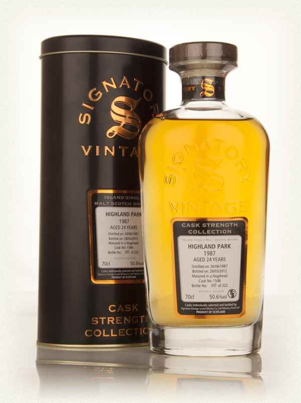 Highland Park 24 Year Old 1987 (cask 1546) - Cask Strength Collection (Signatory)