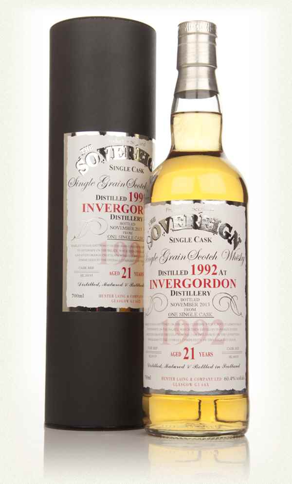 Invergordon 21 Year Old 1992 (cask 10155) - The Sovereign (Hunter Laing)