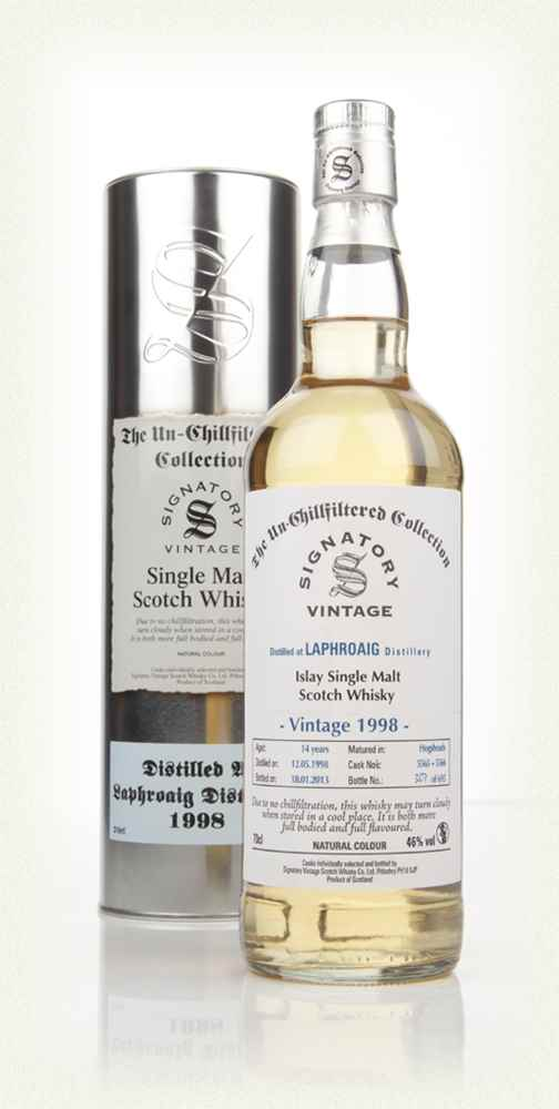 Laphroaig 14 Year Old 1998 (cask 5565-5566) - Un-Chillfiltered (Signatory)