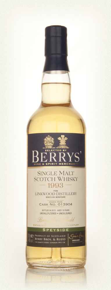 Linkwood 19 Year Old 1993 (cask 013904) (Berry Bros. & Rudd)