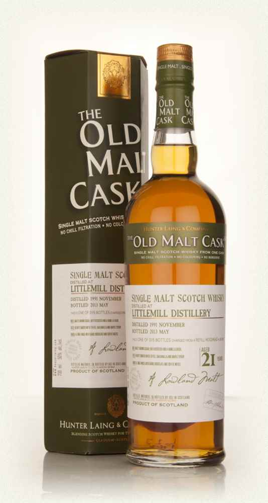 Littlemill 21 Year Old 1991 (cask 9822) - Old Malt Cask (Hunter Laing)