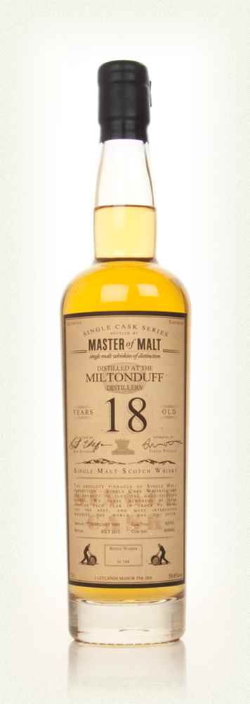 Miltonduff 18 Year Old - Single Cask (Master of Malt)