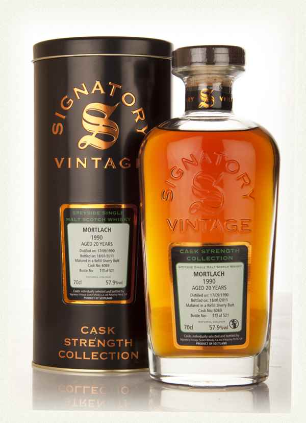 Mortlach 20 Year Old 1990 Cask 6069 - Cask Strength Collection (Signatory)