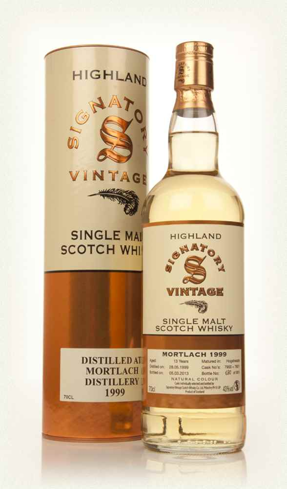 Mortlach 13 Year Old 1999 (casks 7900+7901) (Signatory)