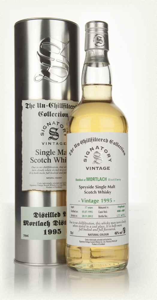 Mortlach 17 Year Old 1995 - Un-Chillfiltered (Signatory)