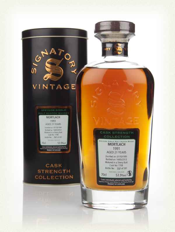 Mortlach 21 Year Old 1991 (cask 7708) - Cask Strength Collection (Signatory)