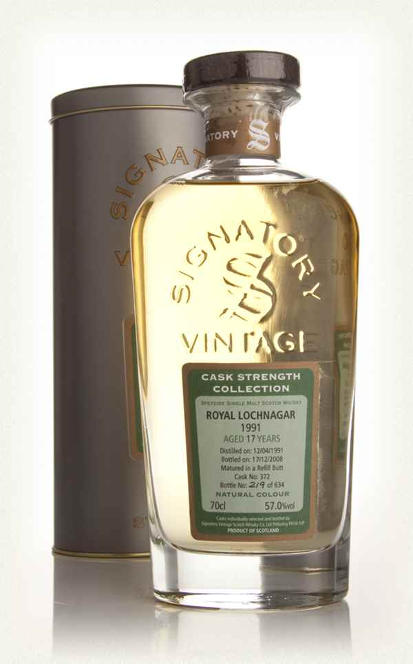 Royal Lochnagar 17 Year Old 1991 - Cask Strength Collection (Signatory)
