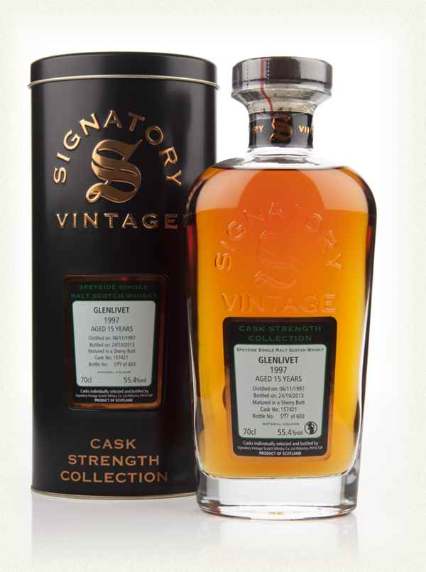 Glenlivet 15 Year Old 1997 (cask 157421) - Cask Strength Collection (Signatory)