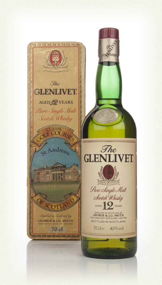 The Glenlivet 12 Year Old 70cl - Classic Golf Courses of Scotland (St Andrews) - 1980s